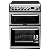 Hotpoint HAE60GS, Graphite, Electric Cooker, Double Oven, 60cm