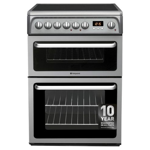 Hotpoint HAE60GS, Freestanding, Electric Cooker, 60cm, Graphite,  Twin Cavity, Double Oven