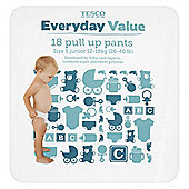 Tesco Everyday Value Pull Up Pants - Size 5 - Junior - 18 Pack