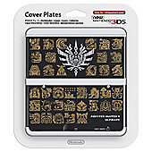NEW 3DS Coverplate - Monster Hunter 4 (Black)