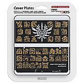 NEW 3DS Coverplate - Monster Hunter 4 (Black)