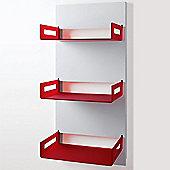 B-LINE Easy Storage Shelf Unit - White - Cherry Red