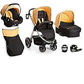 Hauck Priya Trio with Buggy Lights Travel System - Caviar/Banana