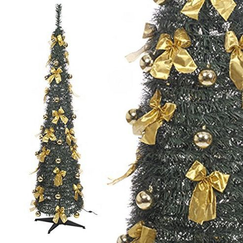 buy pop up led christmas tree with bows 6ft from our. Black Bedroom Furniture Sets. Home Design Ideas