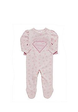 DC Comics Superbaby Sleepsuit - Pink