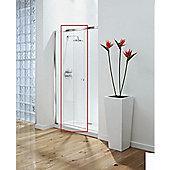 Coram Showers Optima 140cm Sliding Door - Door Pack - White - Plain - 120cm