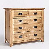 Ametis Westbury Reclaimed Oak Two Over Three Drawer Chest