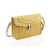 Mustard Ornate Clasp Cross Body Bag