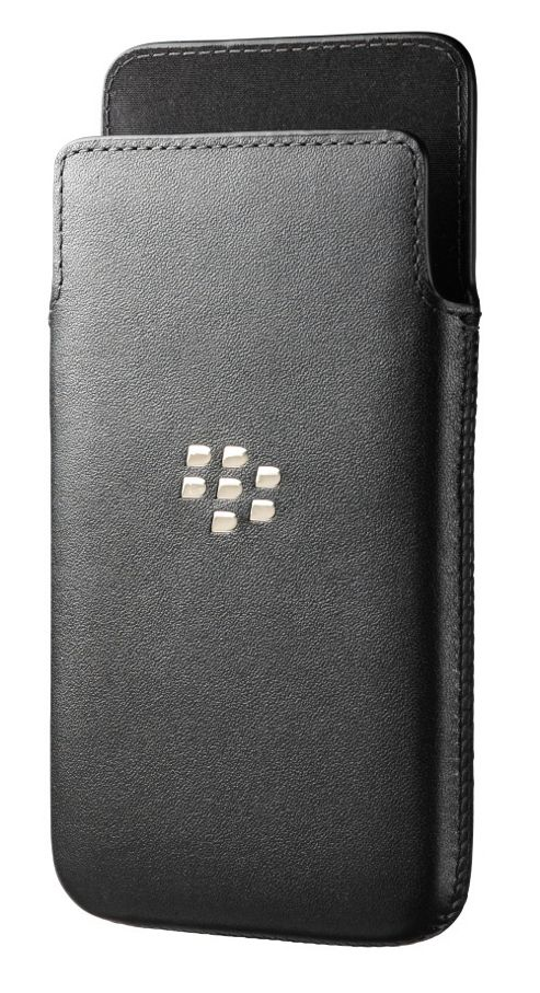 BlackBerry Leather Smartphone Pocket for BlackBerry Z10 - Black