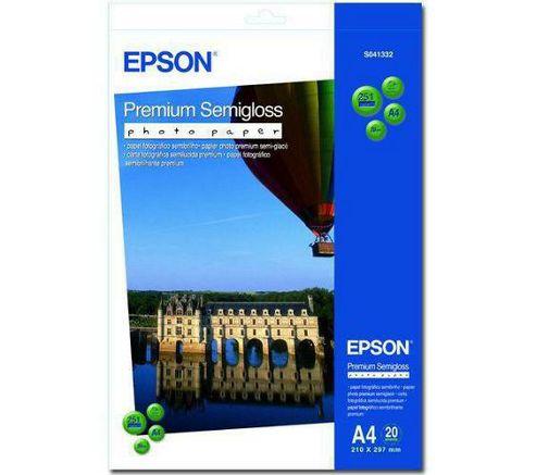 Epson Premium Semi-Gloss Photo Paper A4 [Pack of 20]