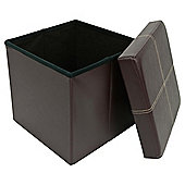 Tesco Leather Effect Ottoman Single Seat, Brown
