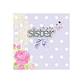 Sparkle and Bow Sister Card