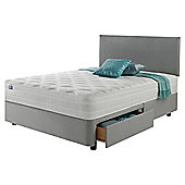 Silentnight Mirapocket 1200 Ortho Memory 4 Drawer King Divan Light Grey with Headboard