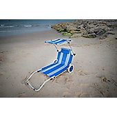 Roll on summer Nautical Stripe Sun Lounger Trolley