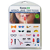 Hand Jive Finger Tattoos