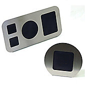Stainless Steel 4 Aperture Photo Frame / Round Frame Set