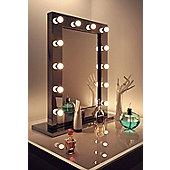High Gloss Black Hollywood Makeup Theatre Dressing Room Mirror k112