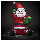Inflatable Sitting Santa, 4ft