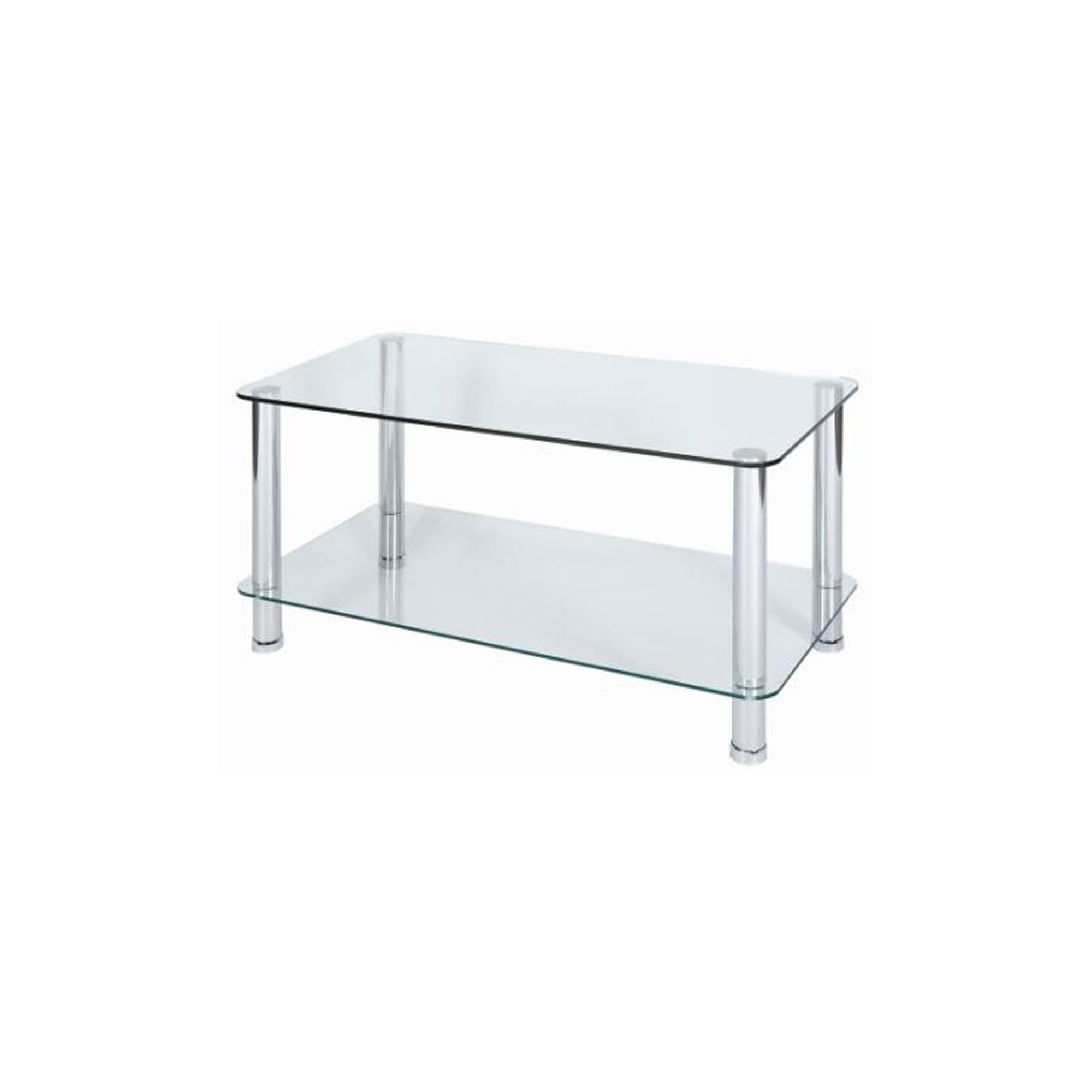 Furniture Boyne Black Glass Coffee Table With Chrome Legs Special Offers