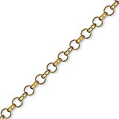 Jewelco London 9ct Solid Gold carved round Belcher Ladies' Bracelet finished & assembled by hand - 7.8mm guage
