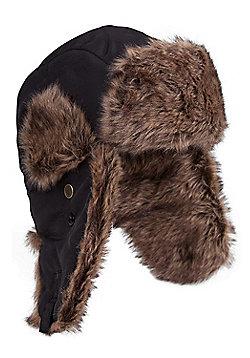 Mountain Warehouse Walking Hiking Ski Skiing Warm Furry Hat - Black
