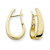 Jewelco London 9ct Yellow Gold - Huggie Earrings -