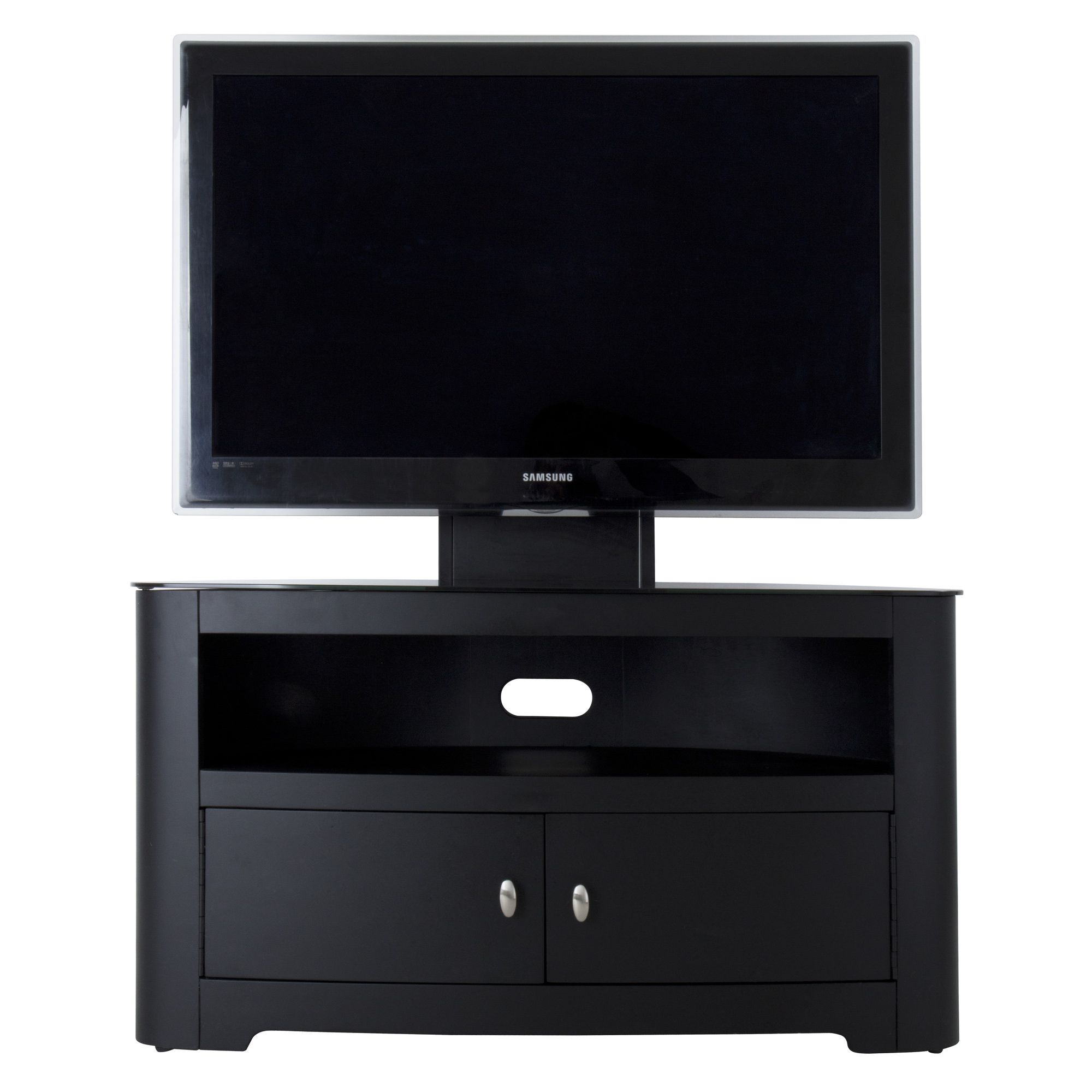 AVF Affinity Combination TV Stand - Satin Black at Tesco Direct