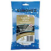 Simoniz Jumbo Leather Wipes 20 Pack