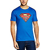 Superman - Logo T-shirt Royal Blue Medium - Film and TV T-Shirts