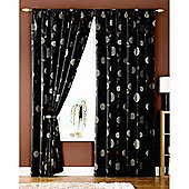 Dreams and Drapes Rosemont 3 Pencil Pleat Lined Half Panama Curtains 90x90 inches (228x228cm) - Chocolate