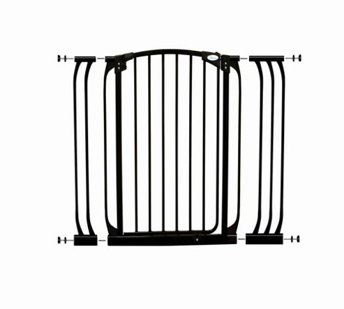 Dream Baby Extra-Tall Swing Close Security Gate with Extensions - Black
