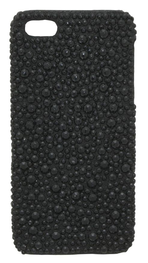 Tortoise™ Look Hard Case iPhone 5 Jewelled Black