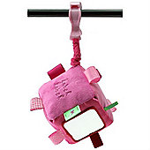 Label Label Clip-On Cube (Pink/Fuchsia)