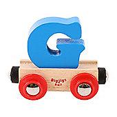 Bigjigs Rail Rail Name Letter G (Blue)