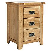 Ametis Westbury Reclaimed Oak Three Drawer Bedside Table
