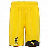 2012-13 Liverpool Goalkeeper Away Shorts (Kids) - Yellow