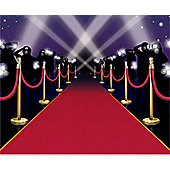 Hollywood Star Attraction Red Carpet Instant Mural (each)