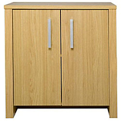 Omega - Wood Effect 2 Door Storage Sideboard / Cupboard - Oak