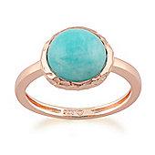 Gemondo Amazonite 'Irida' Pastel Ring in 9ct Rose Gold Plated Sterling Silver