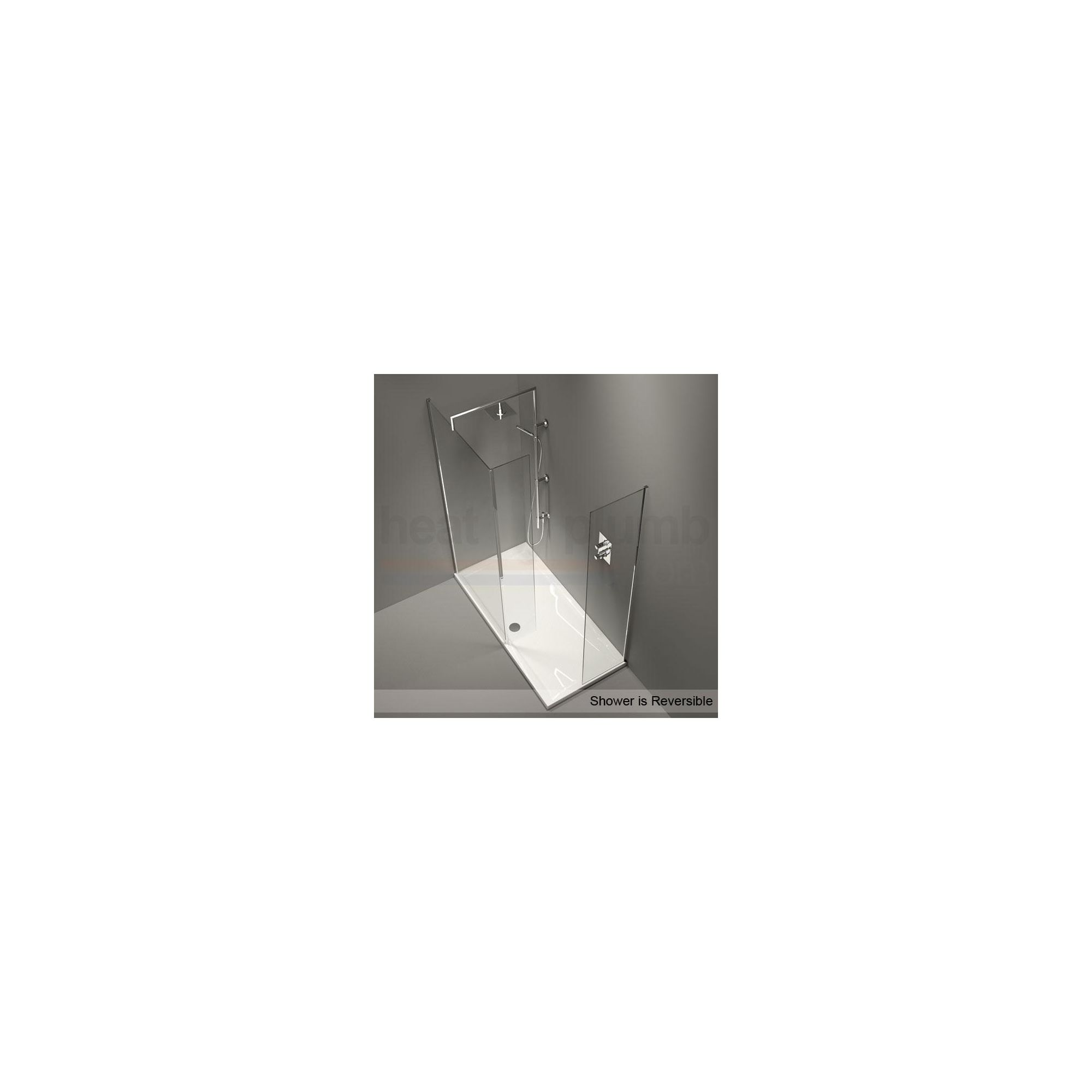 Merlyn Series 9 CUBE Walk-In Shower Enclosure, with Drencher 1500mm x 800mm, Low Profile Tray, 8mm Glass at Tesco Direct