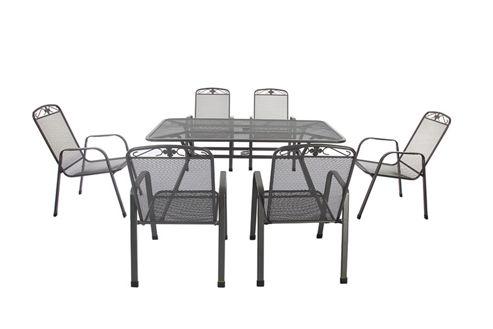 Buy Royal Garden Savoy 7 Piece Rectangular Garden Dining Set 160 X 90cm Rec