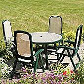 Nardi Toscana 5 Piece Round Ravenna Dining Set with Delta Chair - Green