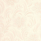 Graham & Brown Jacquard Floral Wallpaper - Cream