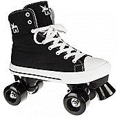 Rookie Canvas High Kids Quad Roller Skates - Black