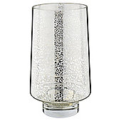 Tesco Mercury Glass Hurricane Silver