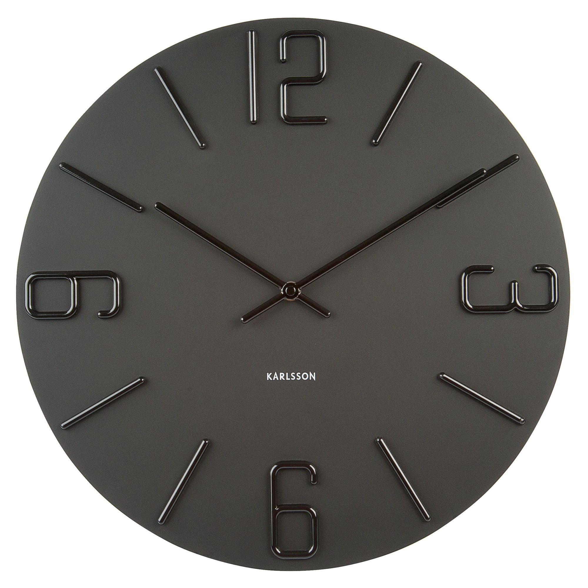 Home and garden karlsson falling numbers wall clock black offerta karlsson relief wall clock black large amipublicfo Images