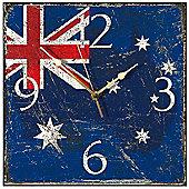 Smith & Taylor Australia Flag Shabby Square Wall Clock