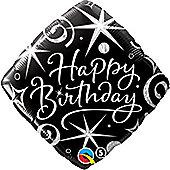 18' Birthday Elegant Sparkles & Swirls (each)