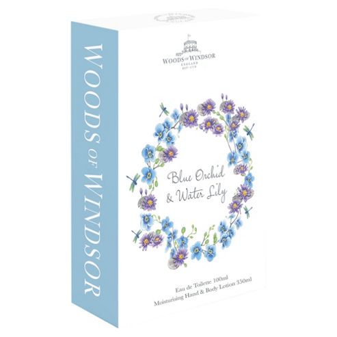 Woods Of Windsor Blue Orchid Eau De Toilette And Hand & Body Lotion Gift Set