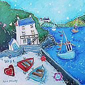 Artistic Britain Boat House by Susie Grindey Wall Art